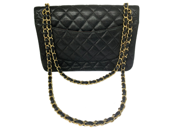 Chanel Double Flap Jumbo Caviar