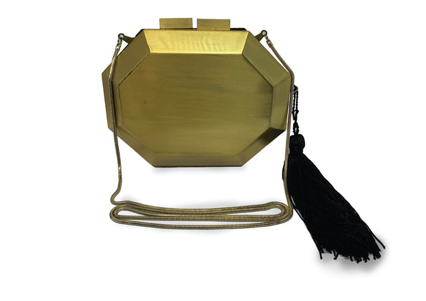 Isla Clutch Diamante Gold