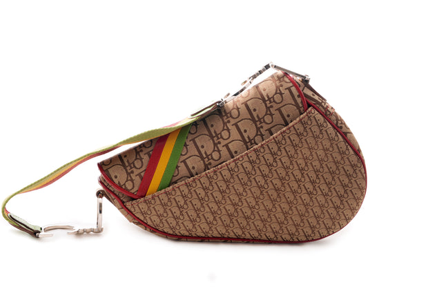 Dior Monogram Rasta Saddle Bag