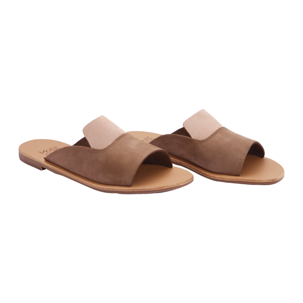 Linum sabbia nubuck leather sandals