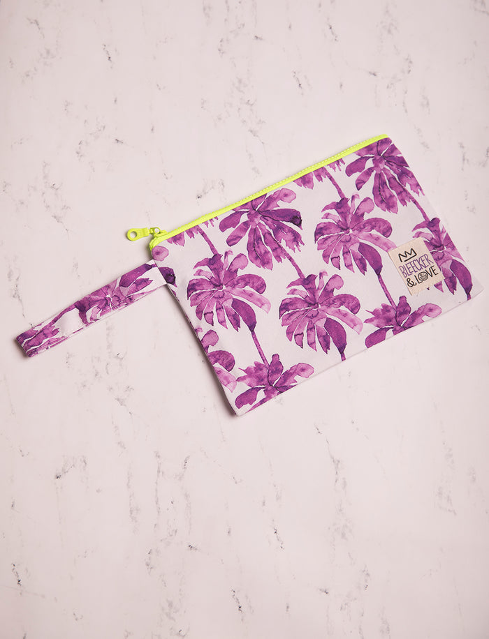 Pouch Purple Palm Trees