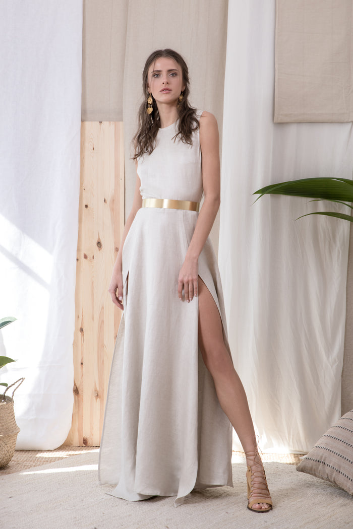 Latvia Linen Dress
