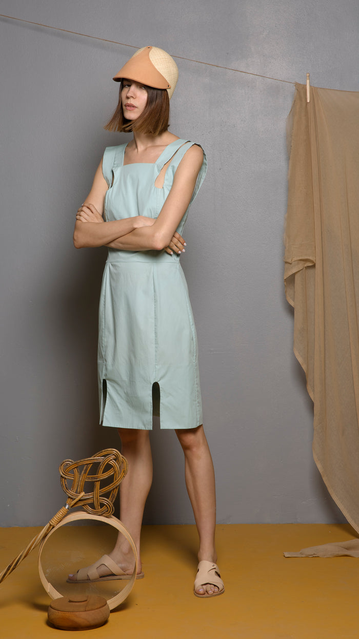Amazonite Mint Cotton Dress