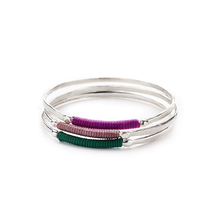 Chromate Silver Plated Bangle