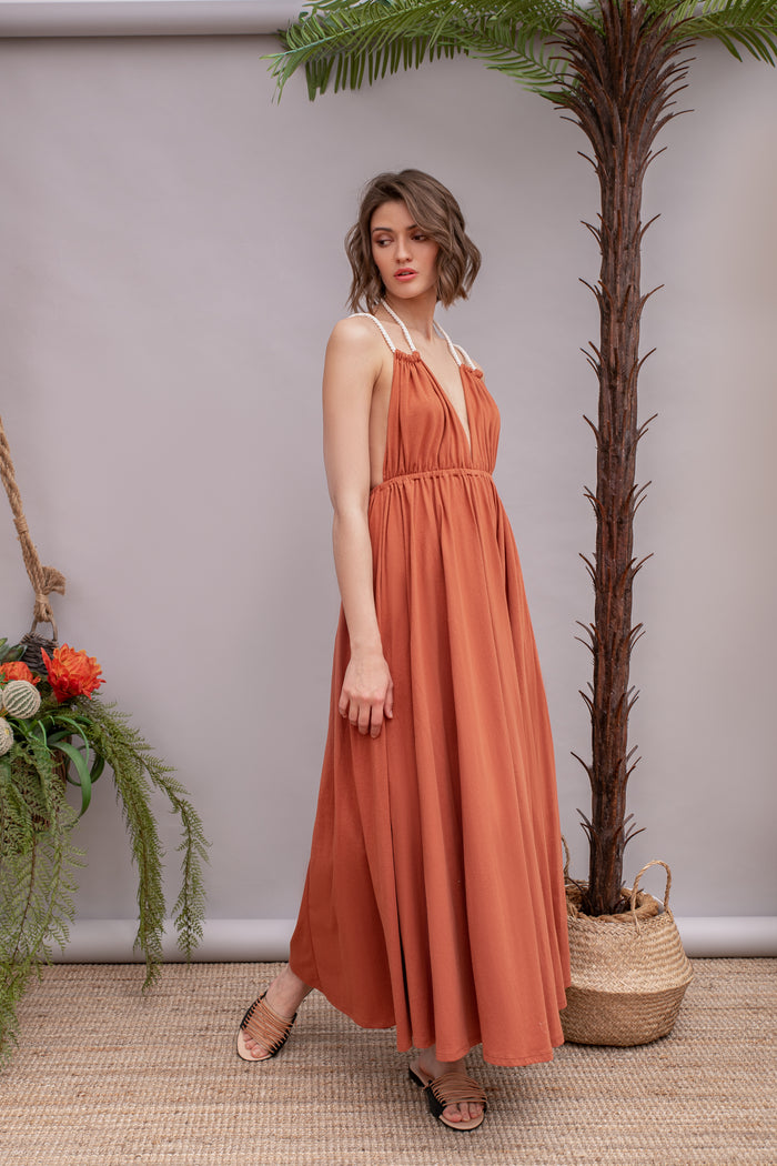 Daiquiri Terracotta Dress