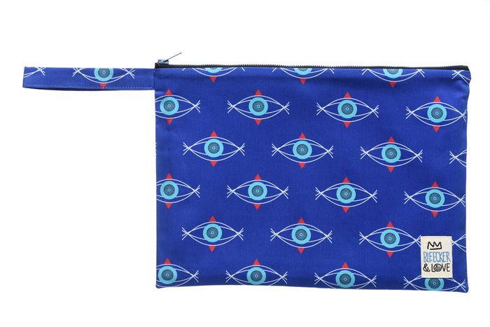 Pouch Evil Eye Turquoise