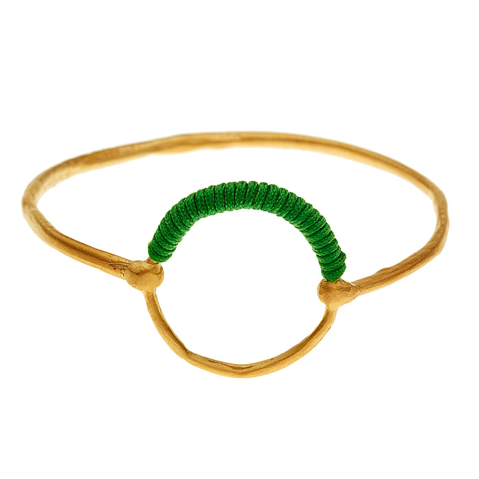 Helios Bangle Gold Emerald Green