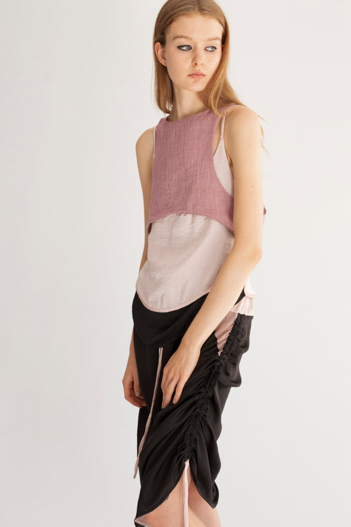 Two layered sleeveless top