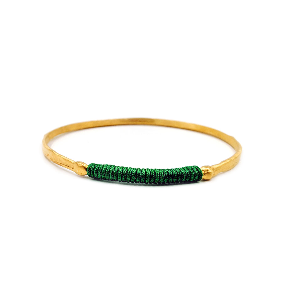 Chromata Bangle Gold - Emerald Green