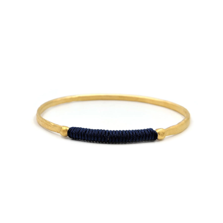 Chromata Bangle Gold-Navy Blue