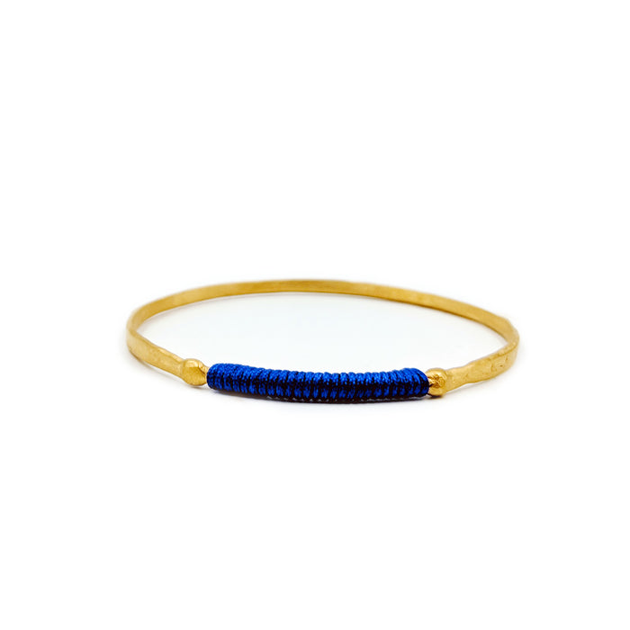 Chromata Bangle Gold-Royal Blue