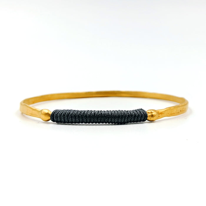 Chromata Bangle Gold - Black