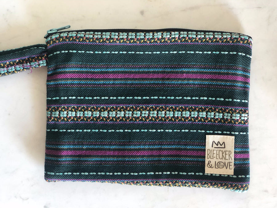 Pouch Green Stripes