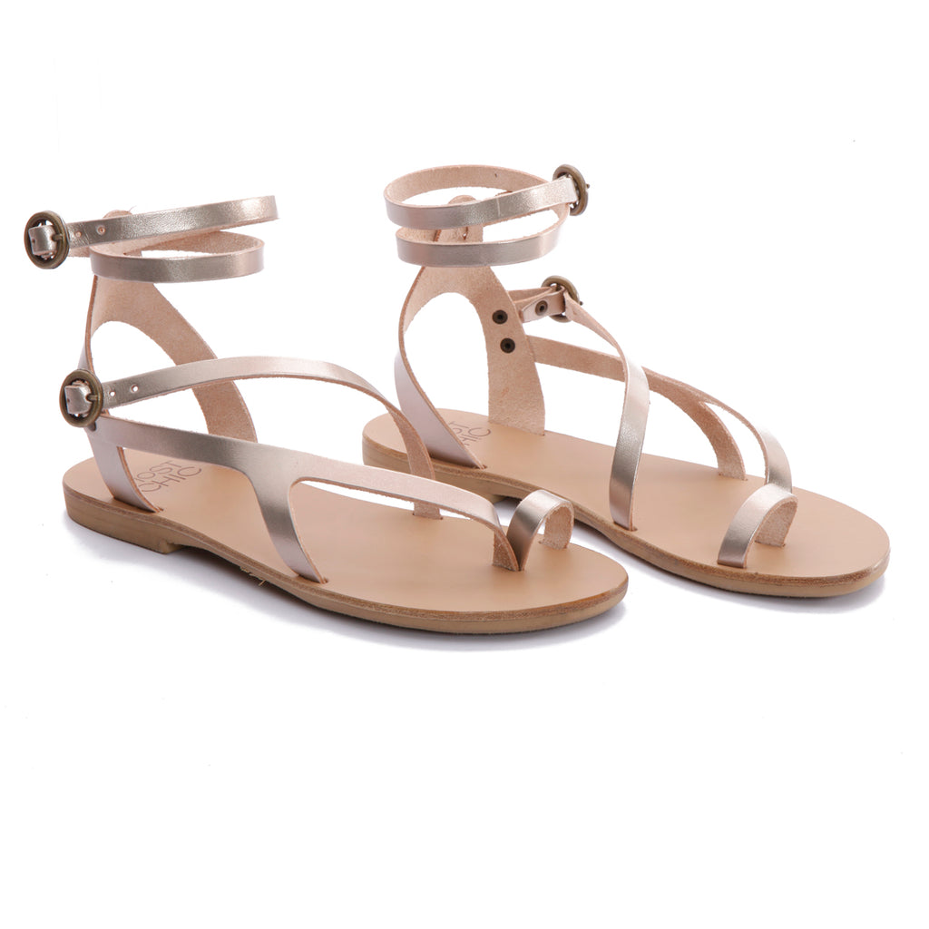Nymphea metal sand leather sandals