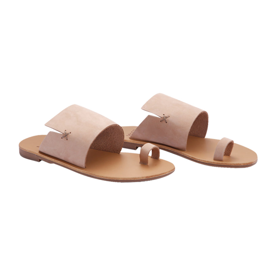 Rosa sabbia leather sandals