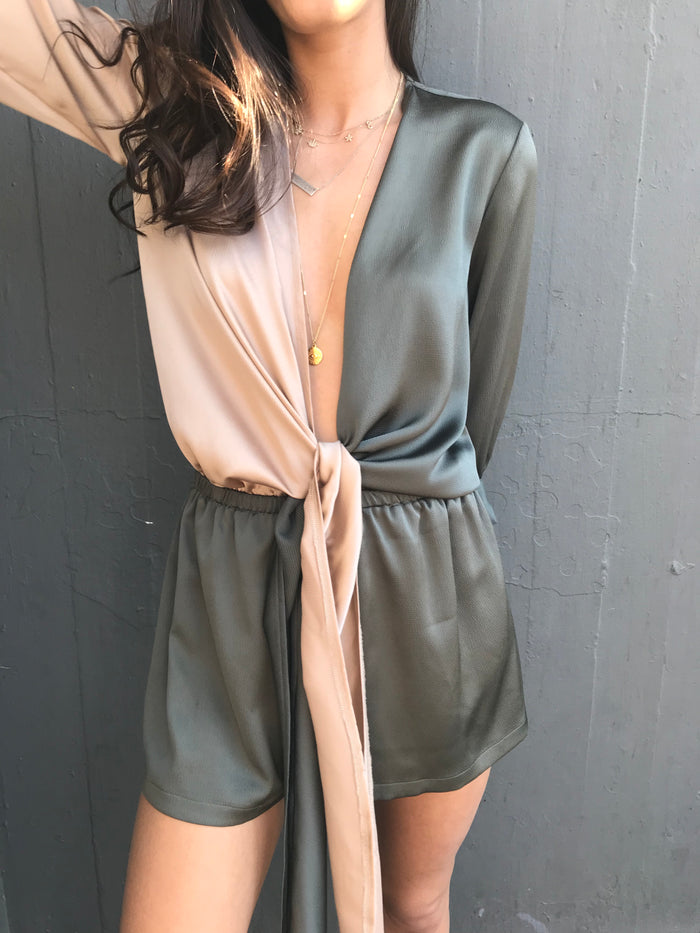 Color-blocked Romper