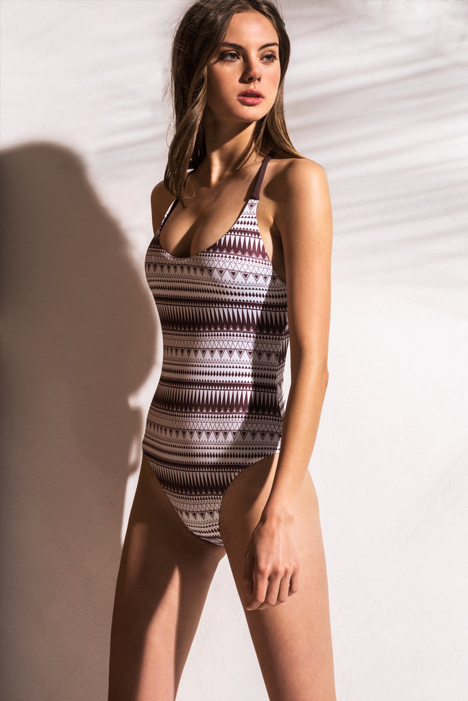 Aurelia Printed Swimsuit