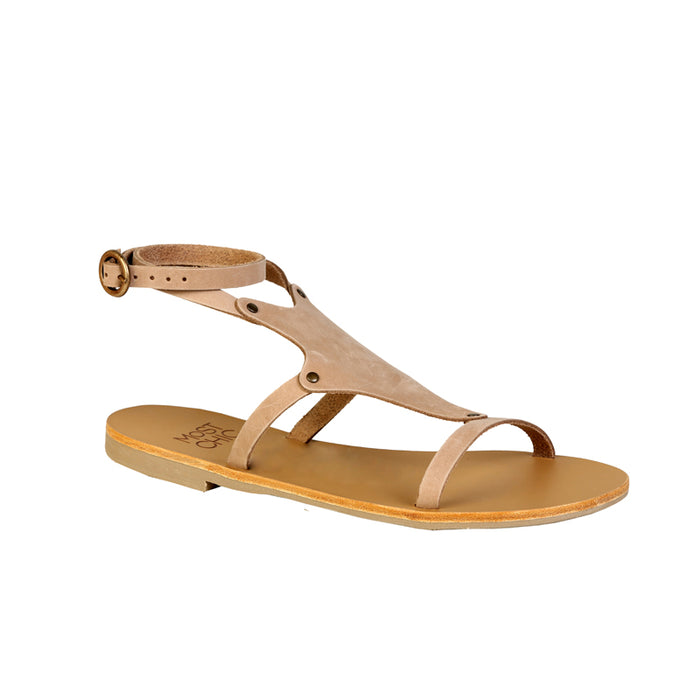 Nerine sabbia leather sandals
