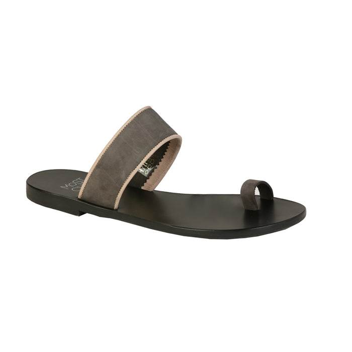Narcissus anthracite nubuck leather sandals