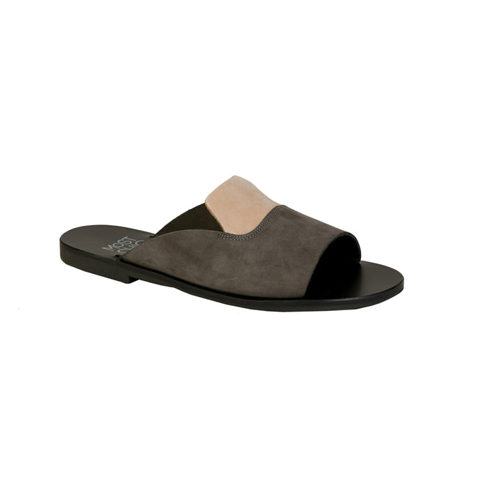 Linum anthracite nubuck leather sandals