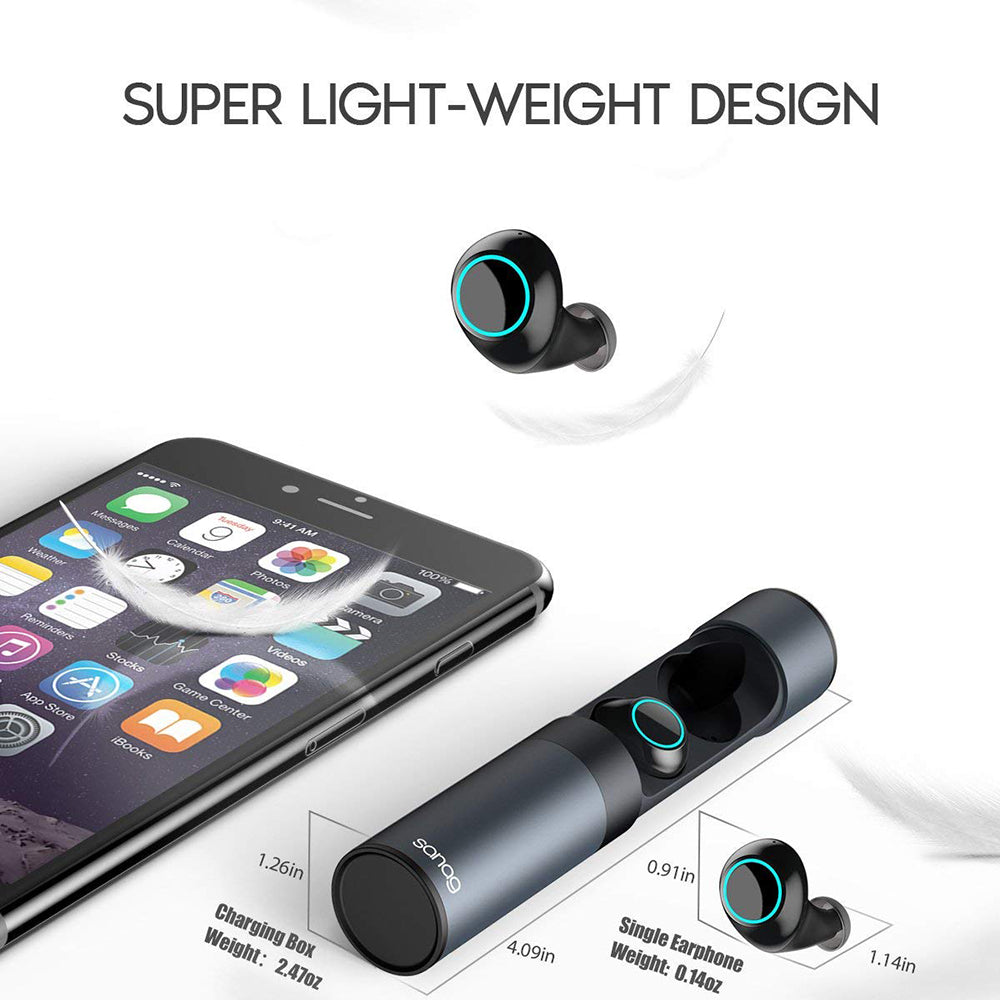 super light weight design wireless earbuds