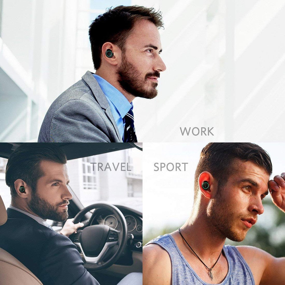 all in one waterproof wireless earbuds