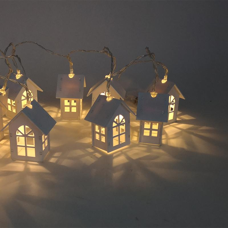1.5m 10 LED Christmas String Lights With Houses