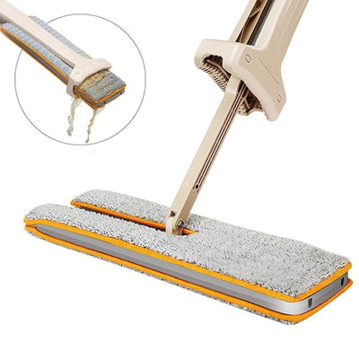 Two-Side Microfiber Mop for 360-Degree, All Types Floor Cleaning