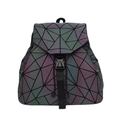 Luminous Folding Female Backpack, Teen School Bag For Girls