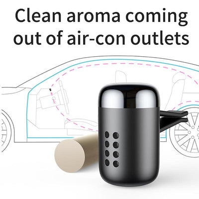 Aromatherapy Car Air Freshener In Matte Aluminium