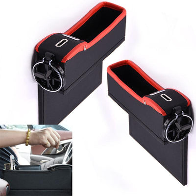 Car Seat Drink Holder, Storage Box For Phone, Card, Coins
