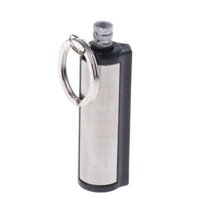 Metal Keychain Lighter With Permanent Match