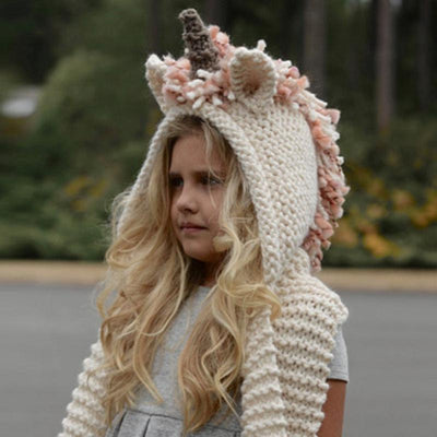 Unicorn Crochet Hat For Kids