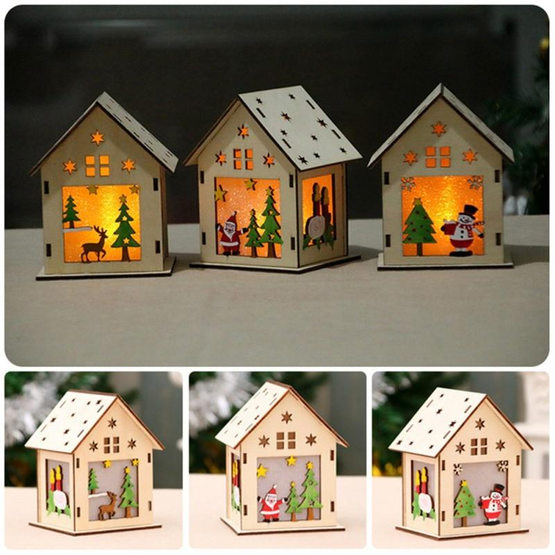 LED Christmas Tree Lights-Wooden House
