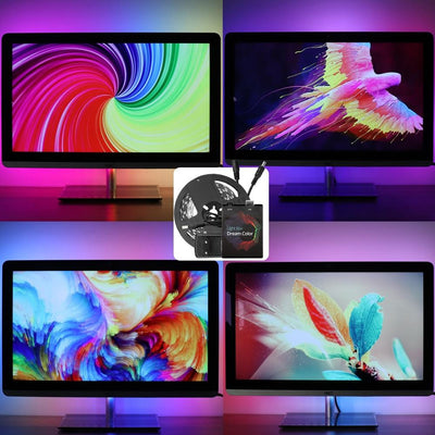 DIY Dream Color Background Lighting Kit for Smart TVs and PC