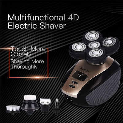 5 in 1 4D Washable Electric Shaver For Men
