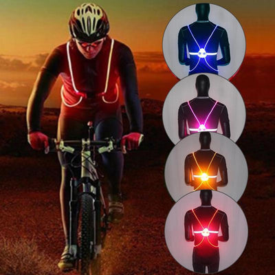 LED Reflective Vest For Night Running Or Cycling