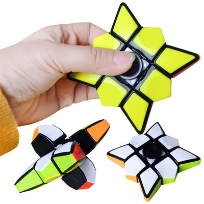 Rubik Educational Puzzle Cube Hand Spinner