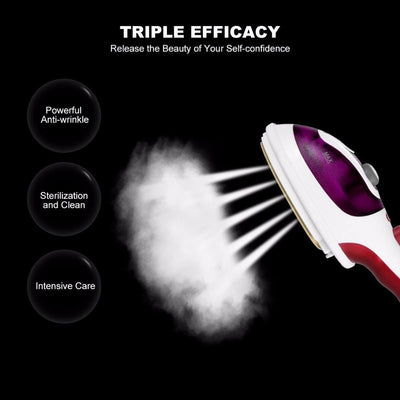 Portable Travel Steam Iron With Cleaning Brush