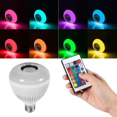LED Bulb with a Remote Control Bluetooth Speaker
