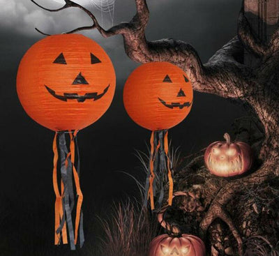Pumpkin Paper Lantern for Halloween Decorations