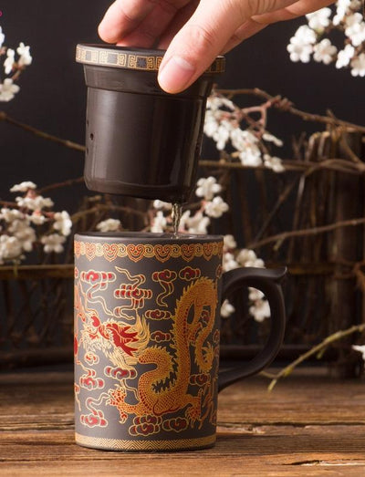 Oriental Ceramic Tea Mug Infuser