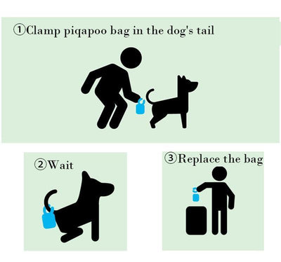 Dog Poop Bags & Tail Clip Holder
