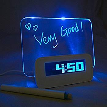 Digital Alarm Clock With Led Message Board