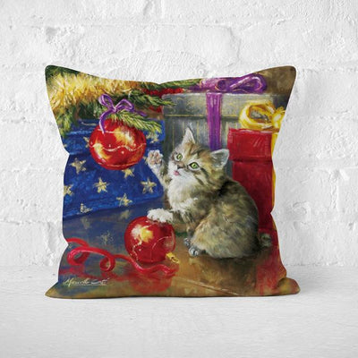 Short Plush Christmas Pillow Cover