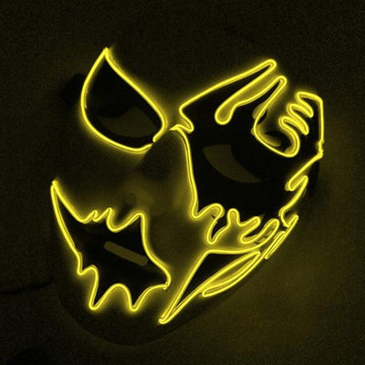 Hand-Painted Illuminating Halloween Masks