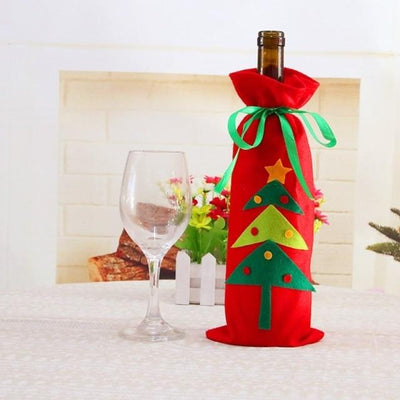 Christmas Wine Bottle Decorations-Bags & Hats