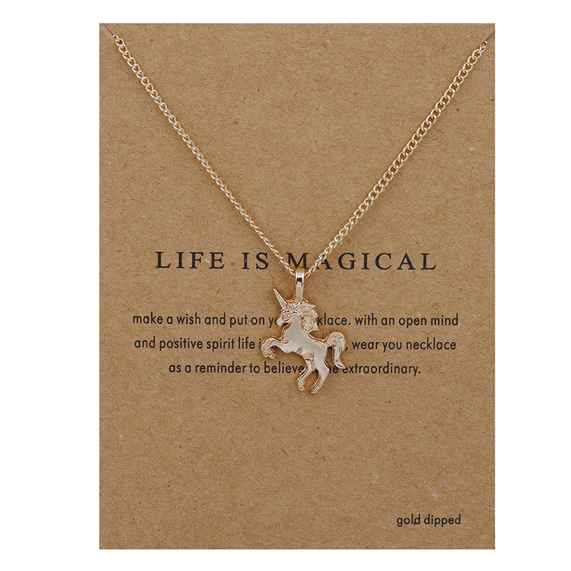 Gorgeous Life Is Magical Unicorn Necklace