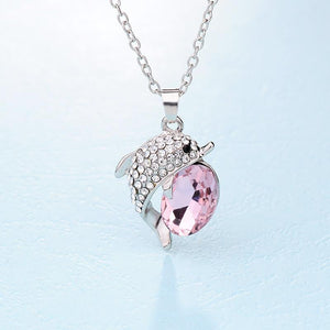 Beautiful Dolphin Rhinestone Crystal Necklace