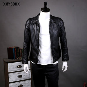 men's leather jacket(free shipping)